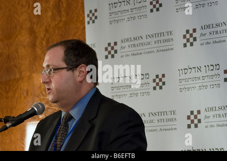 Dr. Fred Kagan, Fellow at AEI, lectures at the Adelson Institute for Strategic Studies' Dec. 2008 Counterinsurgency - Stock Photo