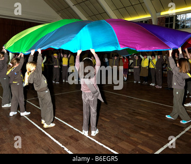 80th Brownie Celebration Parachute Game - Stock Photo