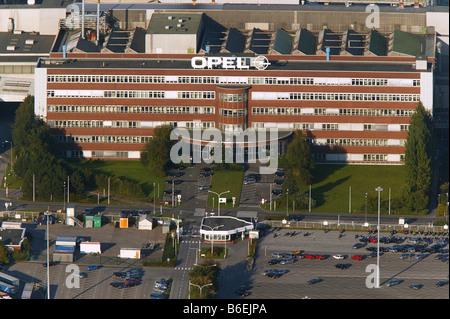 Aerial view of the Opel factory 1, Langendreer, Bochum, Ruhr Area, North Rhine-Westphalia, Germany, Europe - Stock Photo