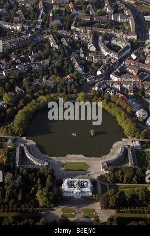 Aerial photograph of Schloss Benrath, Duesseldorf, Nordrhein-Westfalen, Germany, Europe - Stock Photo
