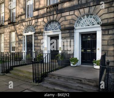 Heriot Row Doors Edinburgh - Stock Photo