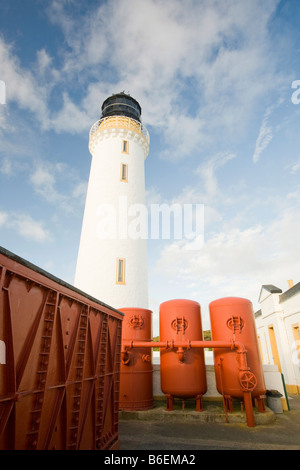 The Mull of Galloway lighthouse on Scotlands most southerly tip UK - Stock Photo