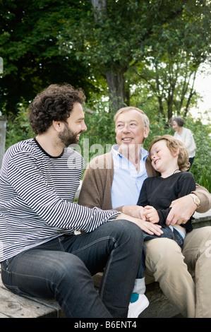 Men with child - Stock Photo