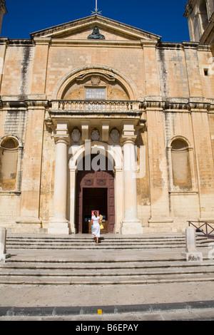 Saint John's Catholic Cathedral, Saint John's Square, Valletta, Malta - Stock Photo