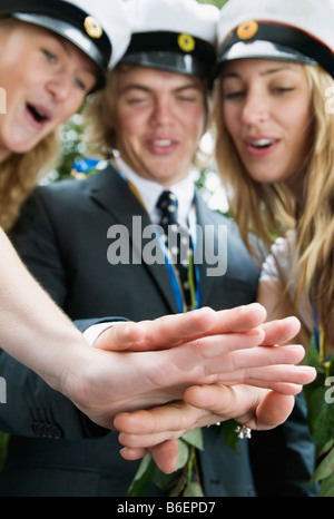 Students and their hands - Stock Photo