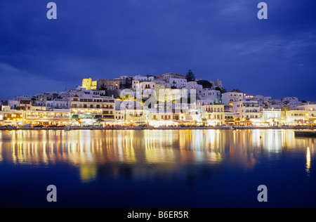 Naxos city, Naxos Island, Greece, Europe - Stock Photo