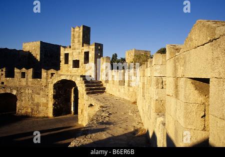 City wall, Rhodes City, Rhodes Island, Greece, Europe - Stock Photo