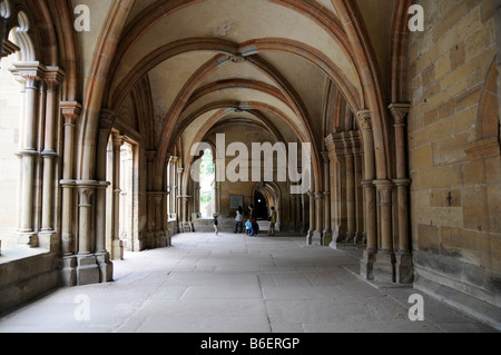 Cloister in the Kloster Maulbronn Convent, a World Heritage Site since 1993, Baden-Wuerttemberg, Germany, Europe