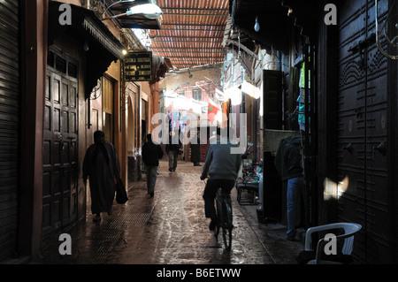 In the Medina of Marrakech, Morocco - Stock Photo