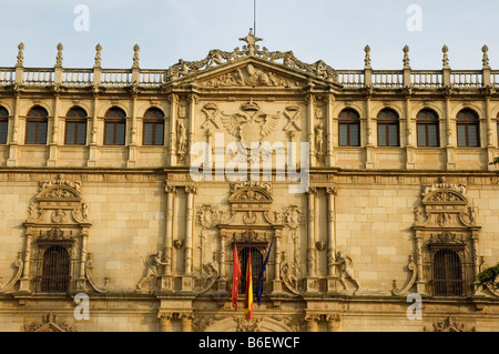 Ancient Major School of San Ildefonso today Rectorado of Alcala University Plateresque style ALCALA DE HENARES - Stock Photo