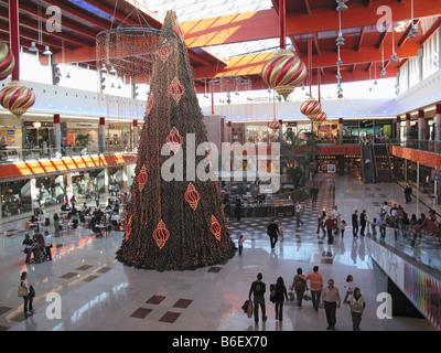 Marbella Costa del Sol Malaga Province Spain Christmas decorations in La Cañada shopping centre - Stock Photo