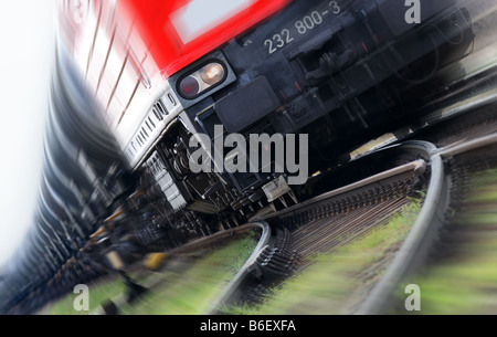 driving goods train - Stock Photo