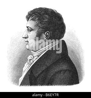 August Wilhelm von Schlegel, 8. September 1767 Hannover - 12. May 1845 Bonn - Stock Photo