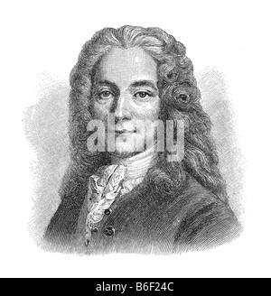 Voltaire, pen name, François Marie Arouet, 21. November 1694 Paris - 30. May 1778 Paris Stock Photo