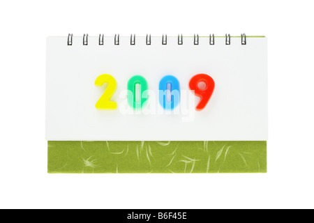 Desktop calendar showing the year 2009 - Stock Photo