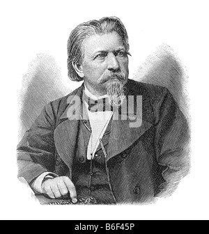 Karl Ferdinand Gutzkow, 17. März 1811 in Berlin - 16. Dezember 1878 in Sachsenhausen, Frankfurt am Main - Stock Photo