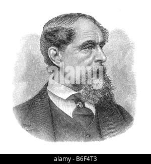 Charles John Huffam Dickens, pen-name Boz, February 1812 Landport Portsmouth, England - 9. Juni 1870 Gad's Hill - Stock Photo
