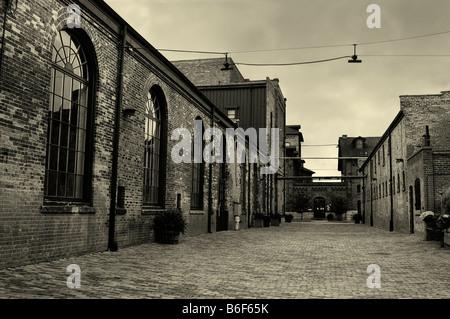Empty cobblestone street - Stock Photo