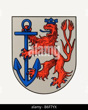Duesseldorf crest, North Rhine-Westphalia, Germany, Europe - Stock Photo