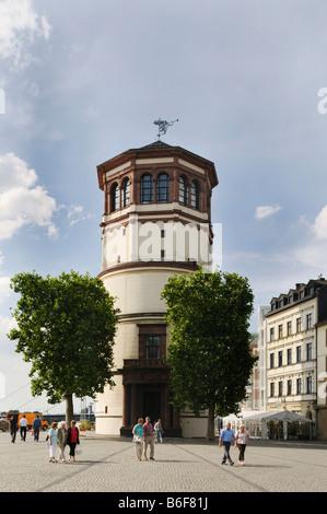 Schlossturm Tower Duesseldorf, location of the maritime museum, Duesseldorf, North Rhine-Westphalia, Germany, Europe - Stock Photo