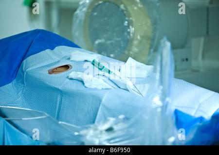 Operating room paraphernalia in a hospital