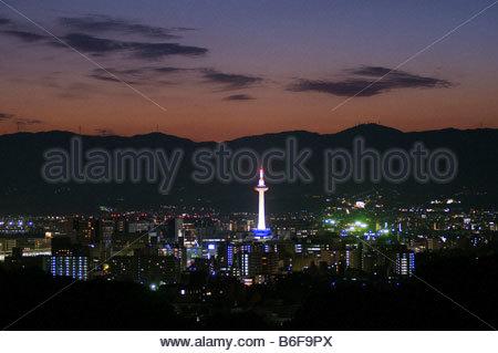 Kyoto at night - Stock Photo
