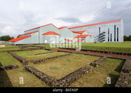 New Roman museum, complete facility, Xanten archaeological park, Lower Rhine region, North Rhine-Westphalia, Germany, - Stock Photo