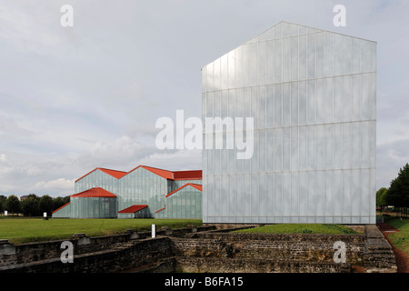 New Roman museum, Xanten archaeological park, APX, Lower Rhine region, North Rhine-Westphalia, Germany, Europe - Stock Photo