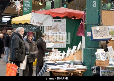 Borough Market SE1 London United Kingdom - Stock Photo