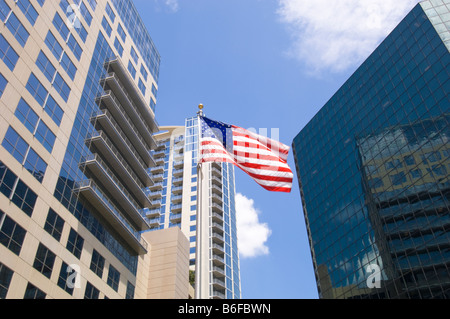 Modern Architecture Orlando downtown orlando florida flag modern architecture, usa stock photo