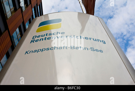 Deutsche Rentenversicherung, German Pension Insurance, logo and signage, Frankfurt, Hesse, Germany, Europe - Stock Photo