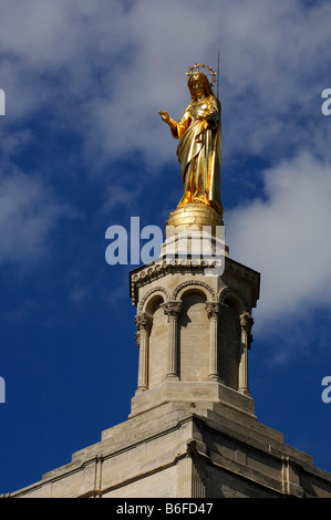 Golden Dome And Statue Of The Virgin Mary At The