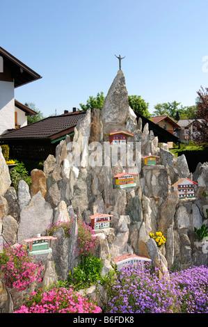 Rockery in Seeon, Chiemgau, Bavaria, Germany, Europe - Stock Photo
