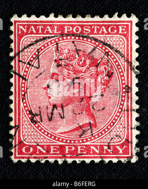Queen Victoria of the UK (1837-1901), postage stamp, Natal - Stock Photo