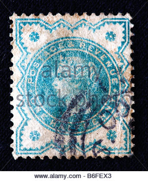 Queen Victoria of the UK (1837-1901), postage stamp, UK - Stock Photo