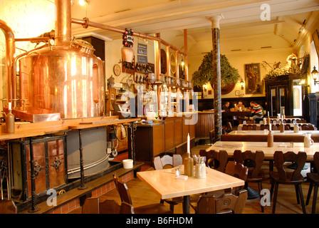 Brauhaus Vetter or Vetter Brewery, Steingasse, Heidelberg, Baden-Wuerttemberg, Germany, Europe - Stock Photo