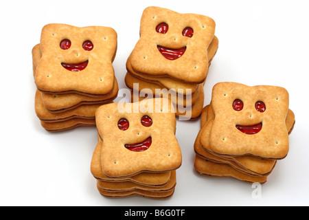 Smiling cookies - Stock Photo
