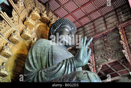 Great Buddha of Nara, Todaiji Temple, Nara, Japan - Stock Photo