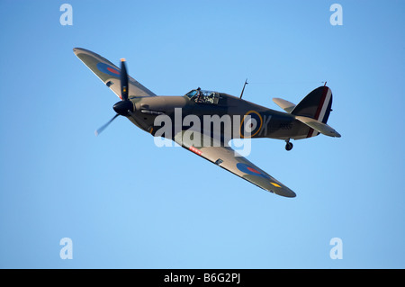 Hawker Hurricane British and allied WWII Fighter Plane - Stock Photo