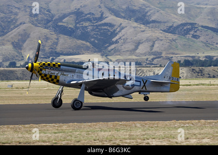 P 51 Mustang American Fighter Plane - Stock Photo