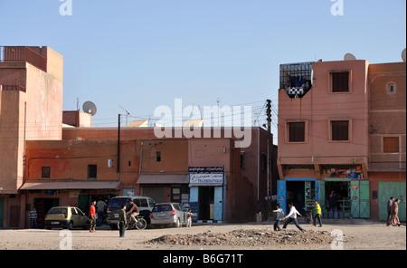 Street scene in Marrakech, Morocco - Stock Photo
