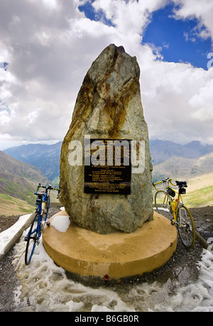 Summit of the Col de la Bonette, Alpes Maritimes, Mercantour National Park, France - the highest road in Europe - Stock Photo