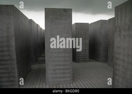 Jewish memorial, Berlin, Germany - Stock Photo
