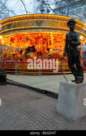 Christmas in Leicester Square 2008, London  pt2 - Stock Photo