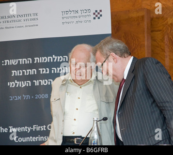 Murat Mercan, Chairman of the Turkish Committee on Foreign Affairs, speaks with Famous Middle East Scholar Prof. - Stock Photo
