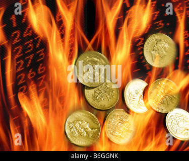 FINANCIAL CONCEPT: Sterling in Meltdown - Stock Photo