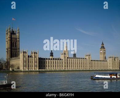 Houses of Parliament Palace of Westminster London - Stock Photo