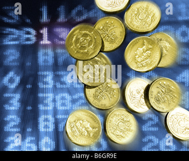 FINANCIAL CONCEPT: Sterling in Decline - Stock Photo
