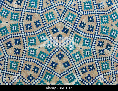 Tiled background oriental ornaments from Uzbekistan - Stock Photo
