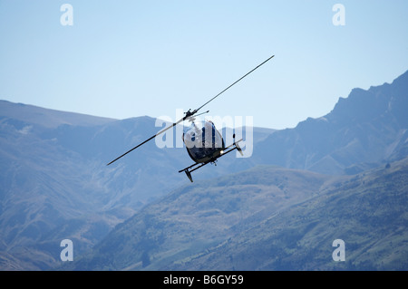 Vintage Bell 47 Helicopter Warbirds over Wanaka Airshow Wanaka South Island New Zealand - Stock Photo